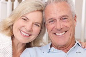 Smiling Older Man and Woman Close Together
