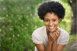 Young Adult African American Woman Smiling