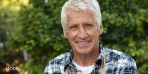 Smiling Older Man Considering Dental Implants